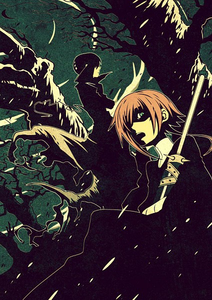 Tags: Anime, Imawano Lem, SQUARE ENIX, SOUL EATER, Death the Kid, Crona, Dragula, Mobile Wallpaper
