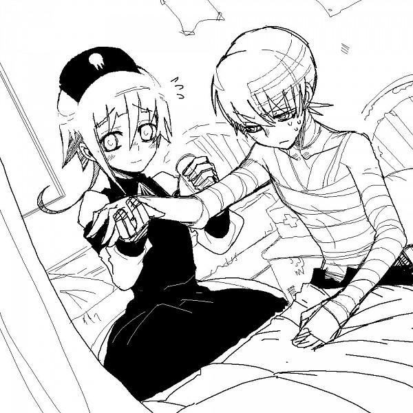 Tags: Anime, Imawano Lem, SOUL EATER, Death the Kid, Crona, Dragula, Sketch
