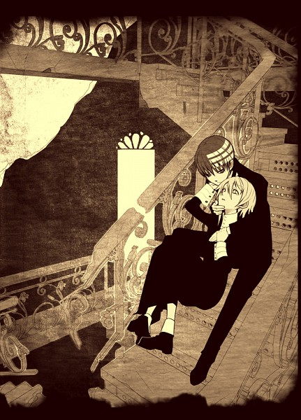 Tags: Anime, Imawano Lem, SOUL EATER, Death the Kid, Crona, Dragula, Mobile Wallpaper