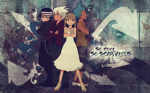Tags: Anime, SQUARE ENIX, SOUL EATER, Black Star, Death the Kid, Maka Albarn, Soul Eater Evans, Wallpaper
