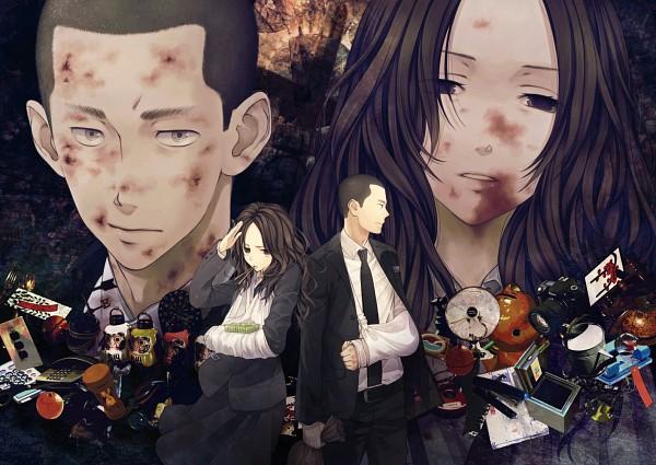 Tags: Anime, Mizuguchi Too, SPEC, Sebumi Takeru, Touma Saya, Arm Sling, Bruise