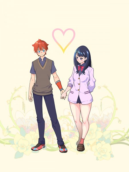 Tags: Anime, Pixiv Id 901874, SSSS.Gridman, Takarada Rikka, Hibiki Yuuta, Wallpaper