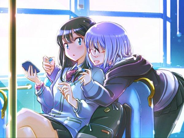 Tags: Anime, Pixiv Id 36083127, SSSS.Gridman, Shinjou Akane, Takarada Rikka, Wallpaper