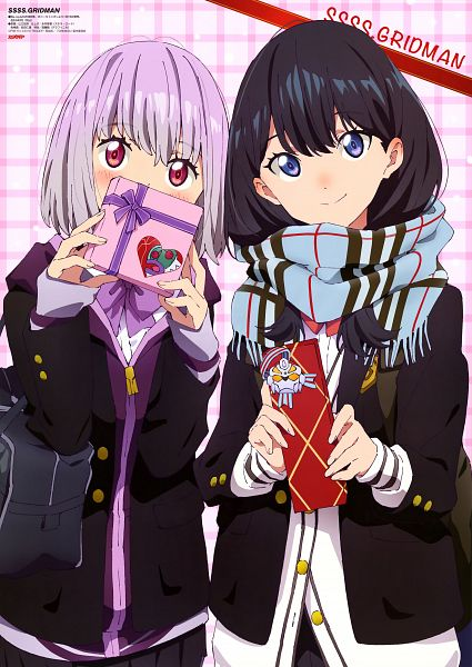 Tags: Anime, Trigger (Studio), Tsuburaya Productions, SSSS.Gridman, Shinjou Akane, Takarada Rikka, Magazine (Source), Scan, Official Art, Animedia