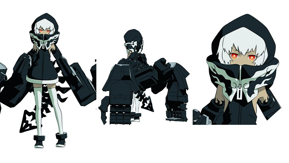 Tags: Anime, SANZIGEN, Black★Rock Shooter, STRength, Character Sheet, Facebook Cover, Official Art