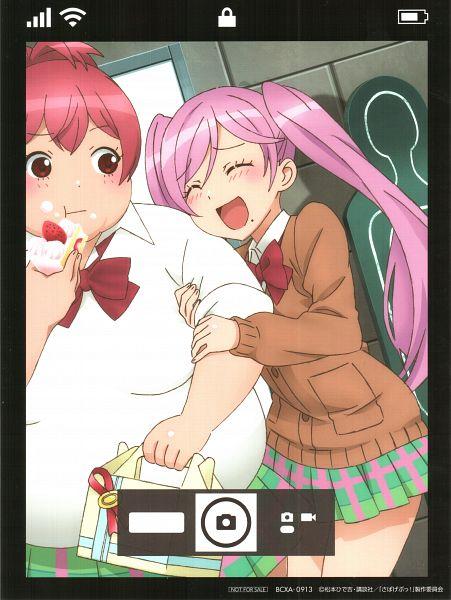 Tags: Anime, Pierrot Plus, Sabagebu!, Sonokawa Momoka, Kasugano Urara (Sabagebu!), Official Art, Scan, Mobile Wallpaper