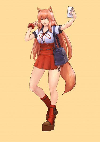 Tags: Anime, Cirenk, Fate/Grand Order, Saber (Fate/EXTRA CCC Fox Tail), 2480x3508 Wallpaper, Holding Phone, Wallpaper, Fanart, Fanart From DeviantART, Mobile Wallpaper, deviantART