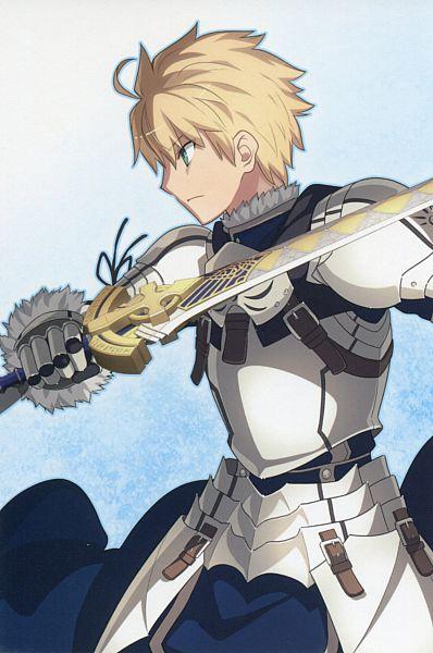 Tags: Anime, Takeuchi Takashi, TYPE-MOON, Fate/Prototype, Saber (Fate/Prototype), Excalibur Proto, Official Art, Mobile Wallpaper, Scan