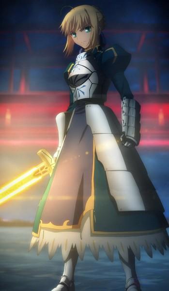 Tags: Anime, TYPE-MOON, Fate/zero, Fate/stay night, Saber (Fate/stay night), Screenshot, Stitched Screenshot