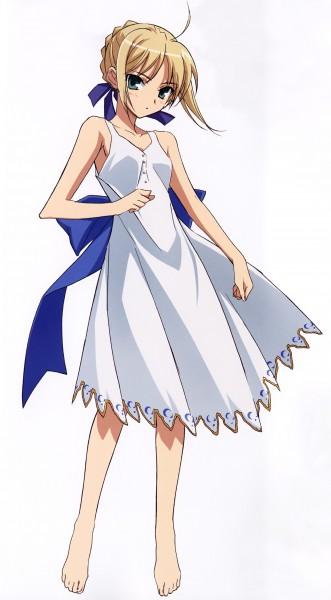 Tags: Anime, Fujii Maki, Fate/stay night - Saber Portraits, Fate/stay night, Saber (Fate/stay night), Official Art, Scan, Mobile Wallpaper