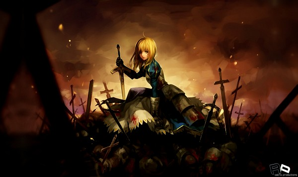 Tags: Anime, Asukaziye, TYPE-MOON, Fate/stay night, Saber (Fate/stay night), Wallpaper