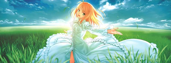 Tags: Anime, Takeuchi Takashi, TYPE-MOON, Fate/stay night, Saber (Fate/stay night), CD (Source), Scan, Facebook Cover, Official Art