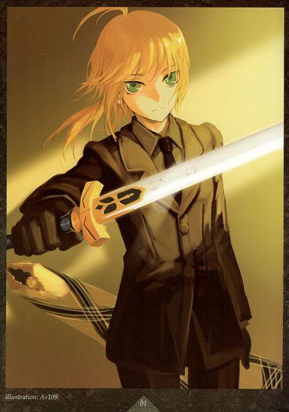 Tags: Anime, As109, Fate/zero, Saber (Fate/stay night), Avalon (Sheath), Comic Market, Fanart, Mobile Wallpaper, Comic Market 83, Scan