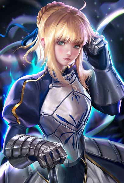 Tags: Anime, Sakimichan, Fate/stay night, Saber (Fate/stay night), Mobile Wallpaper, Fanart From DeviantART, Fanart, deviantART