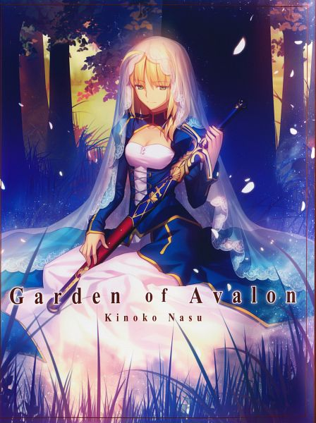 Tags: Anime, Takeuchi Takashi, Garden Of Avalon, Fate/stay night, Saber (Fate/stay night), Scan