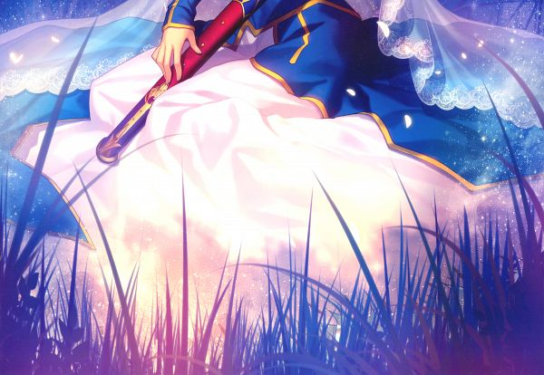 Tags: Anime, Takeuchi Takashi, TYPE-MOON, Garden Of Avalon, Return to Avalon -Fate Art Works-, Fate/stay night, Saber (Fate/stay night), Caliburn, Official Art, Scan