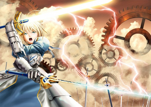 Tags: Anime, Fate/stay night, Saber (Fate/stay night), Caliburn
