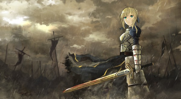 Tags: Anime, Seafh, TYPE-MOON, Fate/stay night, Saber (Fate/stay night), Facebook Cover, Fanart, Pixiv
