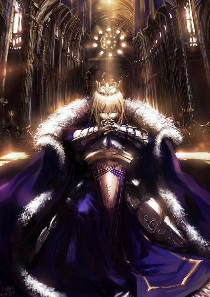 Tags: Anime, Stu Dts, TYPE-MOON, Fate/stay night, Saber (Fate/stay night), Avalon (Sheath), King, Pixiv, Fanart, Mobile Wallpaper