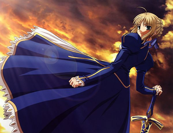 Tags: Anime, Ishihara Megumi, Fate/stay night - Visual Collection, Fate/stay night - Saber Portraits, Fate/stay night, Saber (Fate/stay night), Official Art, Scan