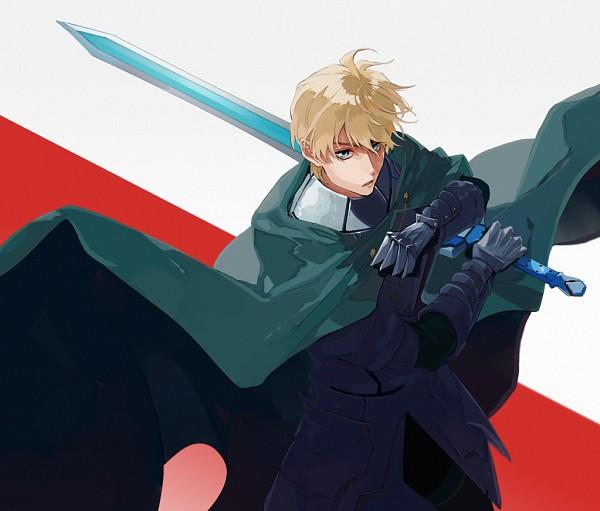 Tags: Anime, Sakamoto Bin, Fate/Grand Order, Saber (Gawain), Green Cape, Excalibur Galatine