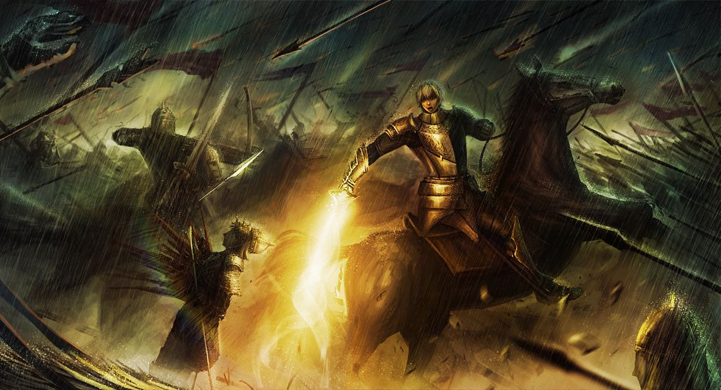 Tags: Anime, Aeir, Fate/EXTRA, Saber (Gawain), Horseback Riding, War, Facebook Cover, Pixiv, Fanart