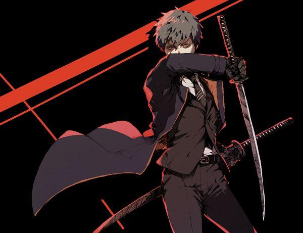 Tags: Anime, Pixiv Id 23588019, Fate/Grand Order, Saber (Saitou Hajime), Fanart From Pixiv, Pixiv, Fanart