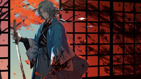 Tags: Anime, Pixiv Id 114425, Fate/Grand Order, Saber (Saitou Hajime), Fanart From Pixiv, Pixiv, Fanart