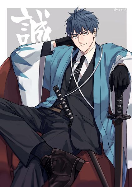 Tags: Anime, Pixiv Id 1185180, Fate/Grand Order, Saber (Saitou Hajime), Fanart From Pixiv, Pixiv, Fanart