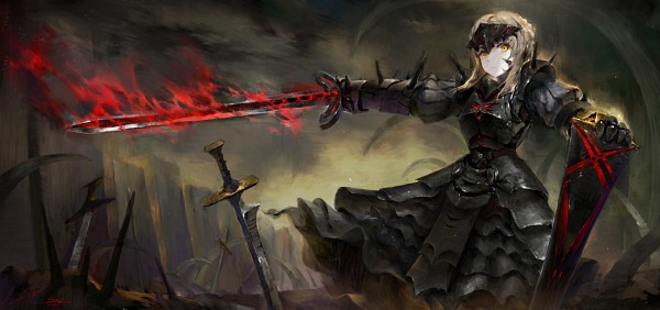 Tags: Anime, Pixiv Id 1193139, Fate/stay night, Saber Alter, Saber (Fate/stay night), Fanart From Pixiv, PNG Conversion, Fanart, Facebook Cover, Pixiv