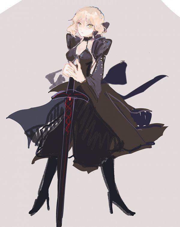 Tags: Anime, Pixiv Id 19590225, Fate/Grand Order, Saber Alter, Saber (Fate/stay night), Excalibur Morgan, Pixiv, Fanart From Pixiv, Fanart