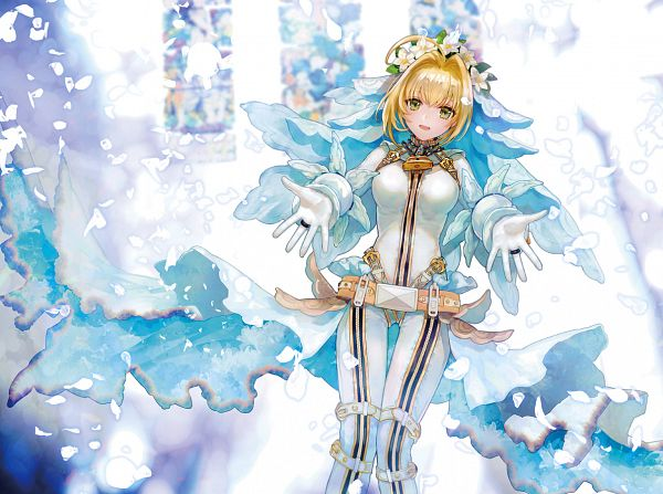 Tags: Anime, Pixiv Id 6147522, Fate/Grand Order, Saber Bride, Saber (Fate/EXTRA), Fanart, Fanart From Pixiv, Pixiv