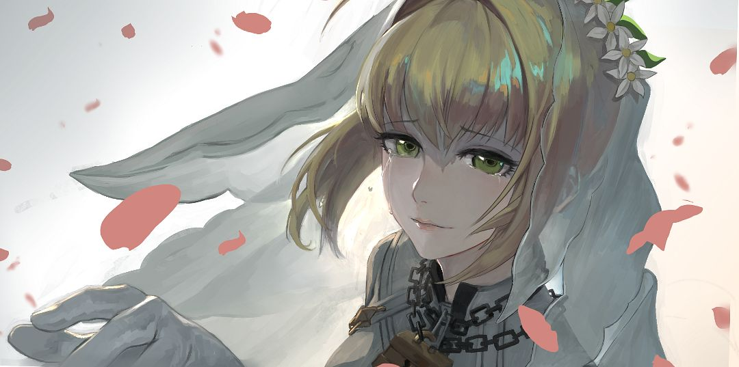 Tags: Anime, Pixiv Id 3675380, Fate/Grand Order, Saber (Fate/EXTRA), Saber Bride, Fanart From Pixiv, Facebook Cover, Pixiv, Fanart