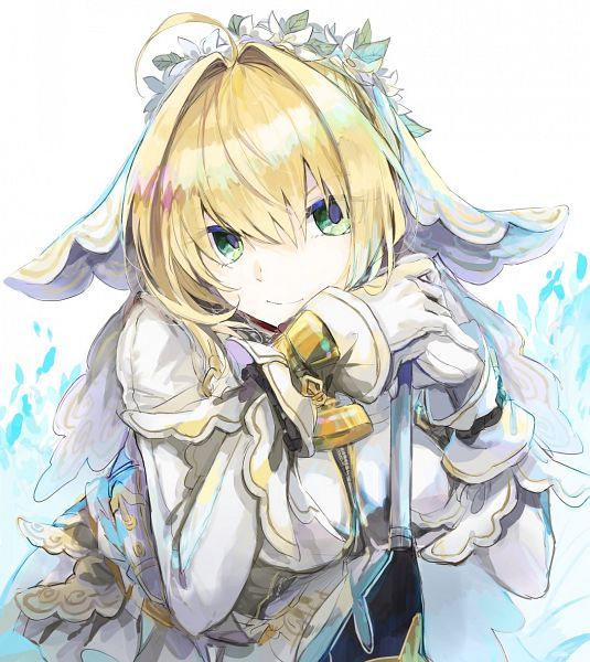 Tags: Anime, Pixiv Id 10549811, Fate/Grand Order, Saber Bride, Saber (Fate/EXTRA), Fanart, Fanart From Pixiv, Pixiv