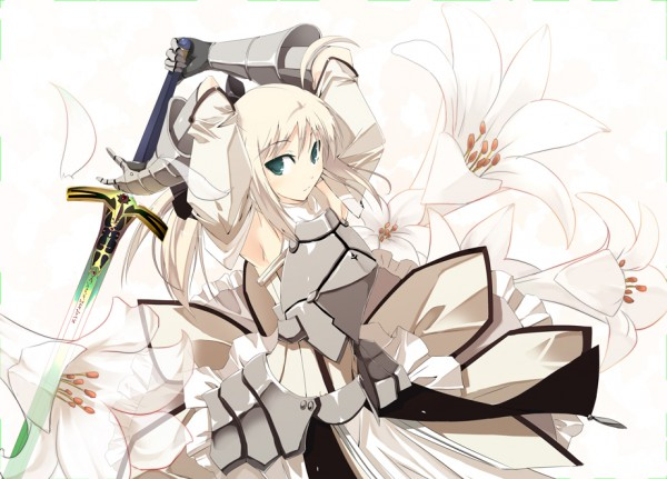 Tags: Anime, Satomi (Pixiv1762974), Fate/unlimited codes, Saber Lily, Saber (Fate/stay night), Caliburn