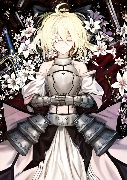 Tags: Anime, Zzz36951, Fate/unlimited codes, Saber Lily, Saber (Fate/stay night), Eye Flower, Fanart From Pixiv, Fanart, Mobile Wallpaper, Pixiv