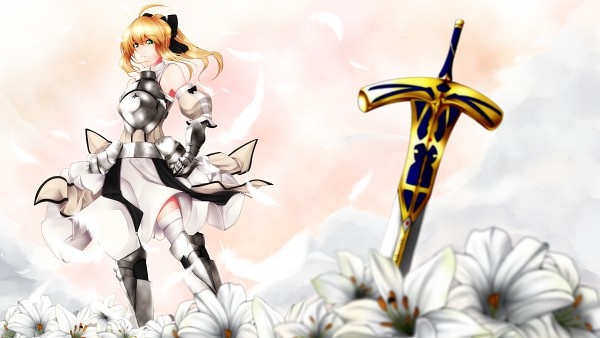 Tags: Anime, Fate/unlimited codes, Saber (Fate/stay night), Saber Lily, Caliburn, Mayura 90, Pixiv, HD Wallpaper, Wallpaper