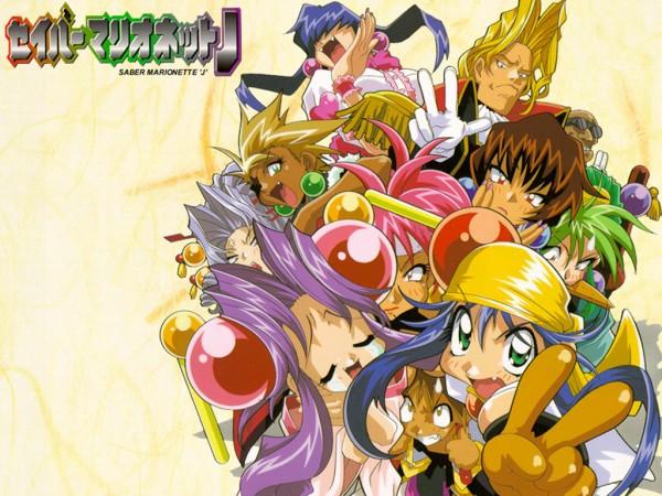 Tags: Anime, Saber Marionette, Cherry (Saber Marionette), Tiger (Saber Marionette), Bloodberry, Lime, Panther (Saber Marionette), Wallpaper