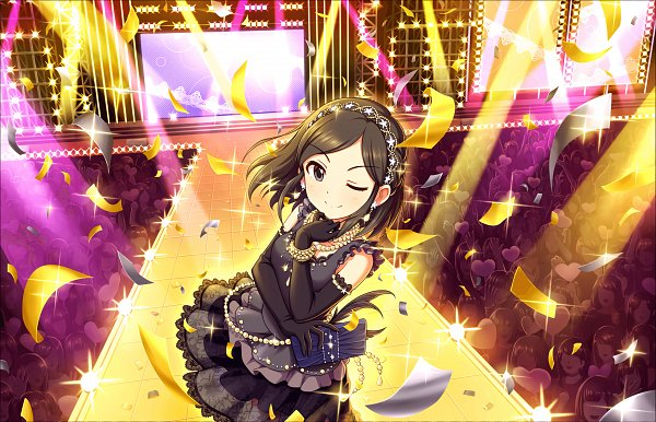 Tags: Anime, Annin Douhu, THE iDOLM@STER: Cinderella Girls, Saejima Kiyomi, Stage, Holding Bag, Official Card Illustration, Official Art