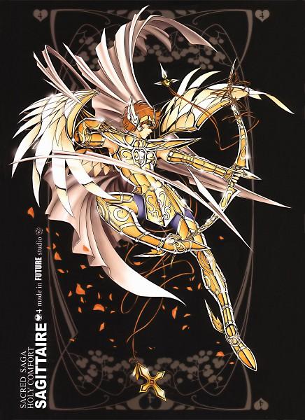 Tags: Anime, Future Studio, Saint Seiya, Sacred Saga, Sagitarius Aioros, Aiming To Side, Mobile Wallpaper, Gold Saints