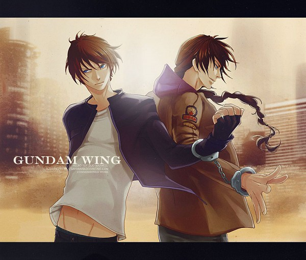 Tags: Anime, Saharaam, Mobile Suit Gundam Wing, Heero Yuy, Duo Maxwell, deviantART