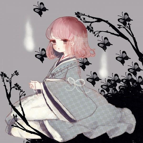 Tags: Anime, YuJuP, Touhou, Saigyouji Yuyuko, Saigyouji Yuyuko (Living), Pixiv, Fanart From Pixiv, Fanart