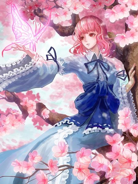 Tags: Anime, Pixiv Id 3235379, Touhou, Saigyouji Yuyuko, Saigyouji Yuyuko (Living), Fanart From Pixiv, Fanart, Pixiv