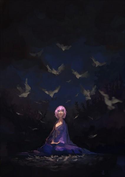 Tags: Anime, Pixiv Id 281383, Touhou, Saigyouji Yuyuko (Living), Saigyouji Yuyuko