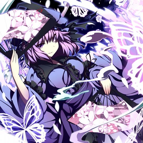 Tags: Anime, UGUME, Touhou, Saigyouji Yuyuko, Fanart, PNG Conversion, Yuyuko Saigyouji