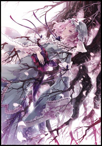 Tags: Anime, Miyuki Ruria, Sakurasou, Touhou, Saigyouji Yuyuko, Crease, Comic Market 83, PNG Conversion, Scan, Comic Market, Mobile Wallpaper, Fanart, Yuyuko Saigyouji