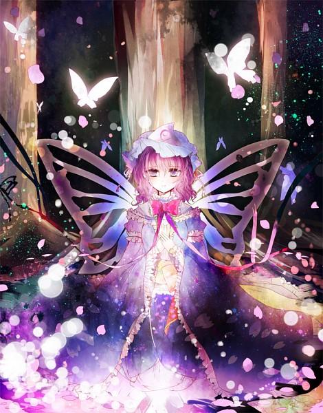 Tags: Anime, Kazu Muchuukai, Touhou, Saigyouji Yuyuko, Saigyou Ayakashi, Under A Tree, Yuyuko Saigyouji