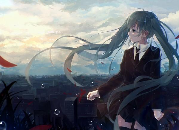 Tags: Anime, Bou Shaku, VOCALOID, Hatsune Miku, Fanart, Saihate, Pixiv, Fanart From Pixiv, PNG Conversion