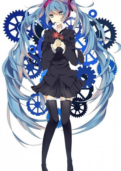 Tags: Anime, VOCALOID, Hatsune Miku, Mobile Wallpaper, Saihate