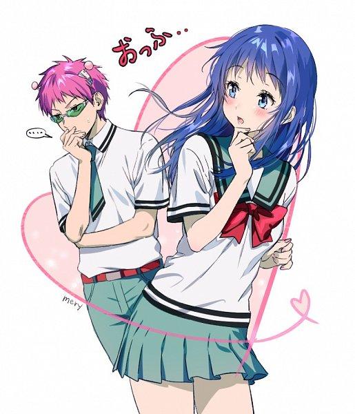 Tags: Anime, mery (dpqpqp550), Saiki Kusuo no Sainan, Teruhashi Kokomi, Saiki Kusuo, Twitter